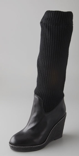 Marc By Marc Jacobs Wedge Boots With Sock