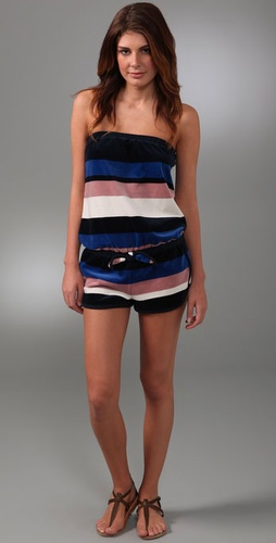 Marc by Marc Jacobs Striped Velour Romper Cover Up