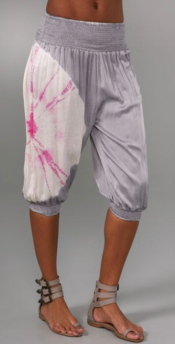 Martha Rey Tie Dye Harem Cover Up Pants