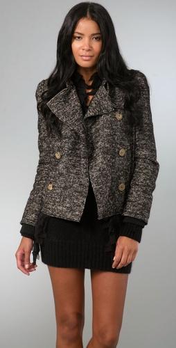 McQ - Alexander McQueen Short Tweed Coat