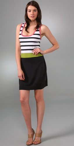 Milly Racer Back Stripe Dress