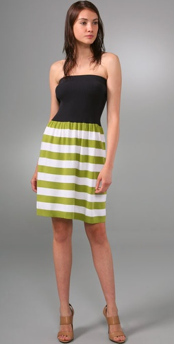 Milly Stripe Tube Dress