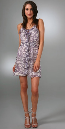 Milly Knotted Cascade Dress