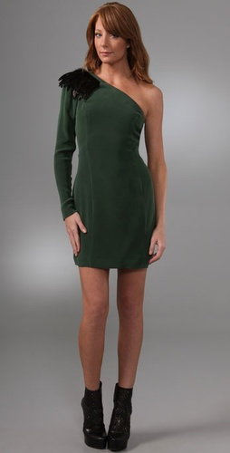 Madison Marcus Plume Asymmetrical Dress