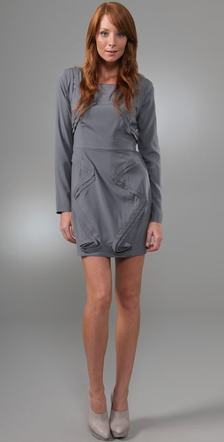 Madison Marcus Edge Long Sleeve Dress