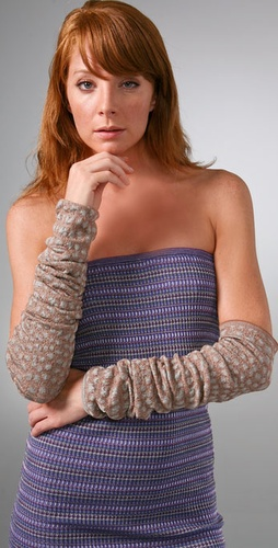 M Missoni Crocodile Intarsia Arm Warmers