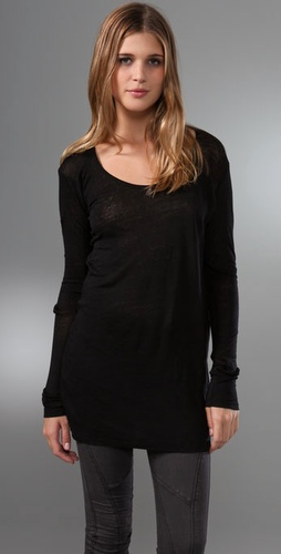 Majestic Linen U Neck Tunic