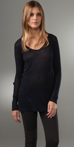 Majestic Long Sleeve U Neck Tee