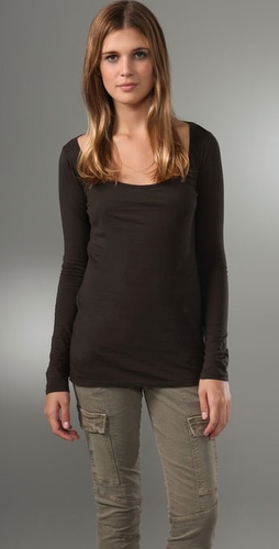 Majestic Long Sleeve Scoop Neck Tee