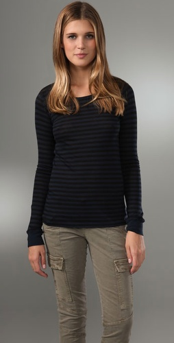 Majestic Long Sleeve Crew Neck Tee