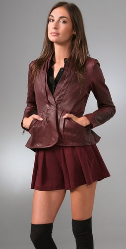 Nanette Lepore Hush Hush Leather Jacket