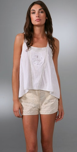 Of Two Minds Cotton & Lace Vintage Tank