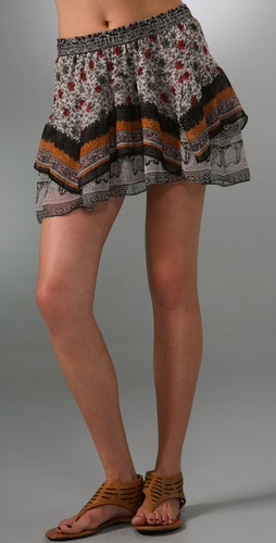 Of Two Minds Sari Print Skirt from shopbop.com