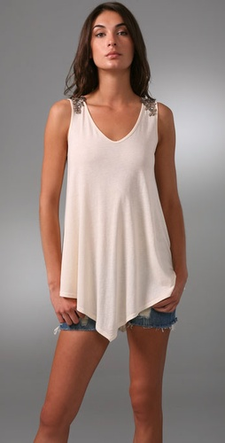 Only Hearts Beaded V Neck Tunic