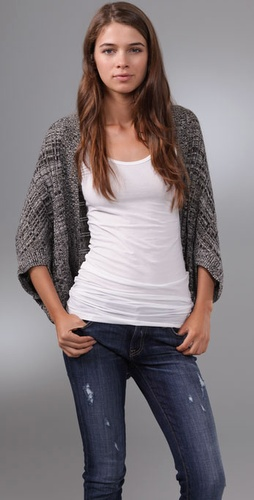 Only Hearts Marled Circle Cardigan