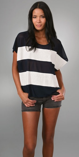 Opening Ceremony Mesh Stripe Top
