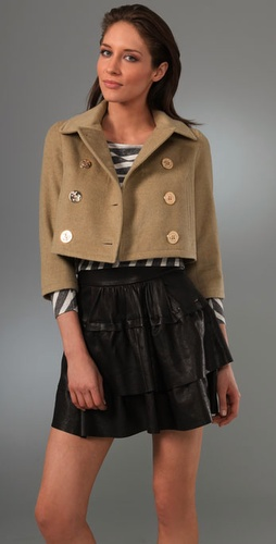 Opening Ceremony Cropped Pea Coat