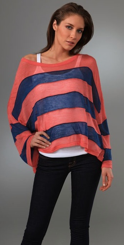 Opening Ceremony Striped Mohair Pullover