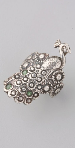 Pamela Love Peacock Ring with Emeralds
