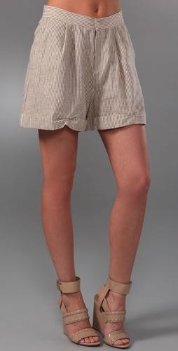 Patterson J. Kincaid Nora Striped Linen Shorts