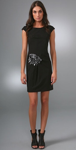 PHILOSOPHY DI ALBERTA FERRETTI Leather Petal Dress
