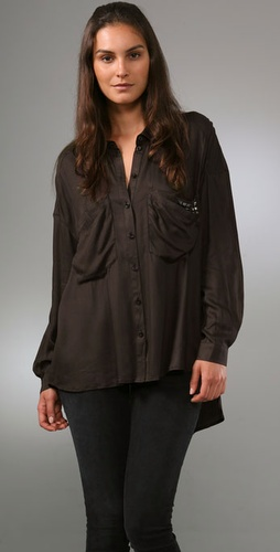 Plastic Island Wasson Button Down Blouse