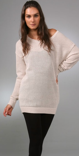 Plastic Island Net Worth Tunic Sweater