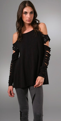 Pencey Slash Sleeve Top