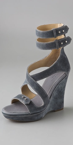Rag & Bone Victoria Suede Wedge Sandals