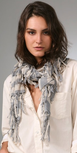 Rag & Bone Clochard Striped Tassel Scarf