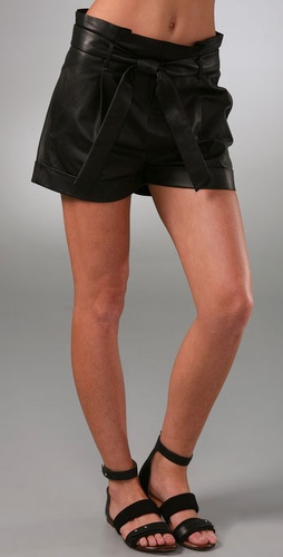Rag & Bone Paper Bag Leather Shorts