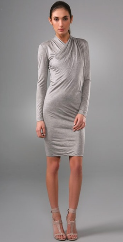 Rachel Roy Draped Open Back Dress