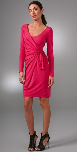 Rachel Roy Pierce Pleated Wrap Dress With