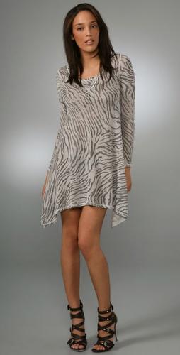 Rebecca Taylor Zebra Tee Dress