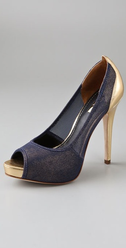 Report Signature Shoes Toluca Open Toe Mesh Pumps from shopbop.com