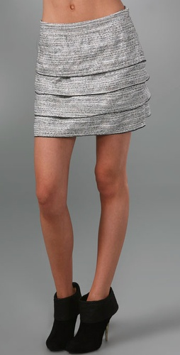 Rory Beca Layered Tweed Miniskirt