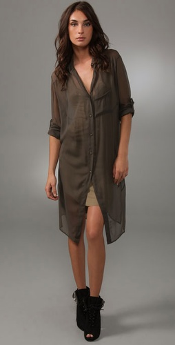 Robert Rodriguez Long Cutaway Shirt Dress