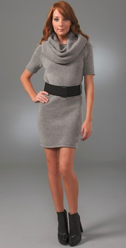 Robert Rodriguez Tuck Stitch Cowl Dress