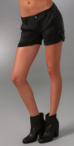 Rich & Skinny Militia Silk Shorts