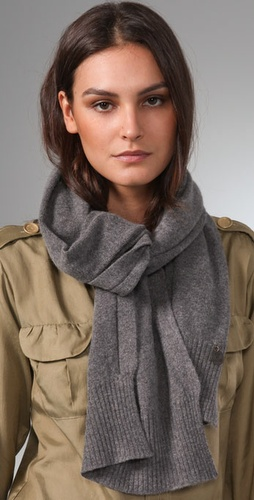 See By Chloe Exposed Stitch Scarf