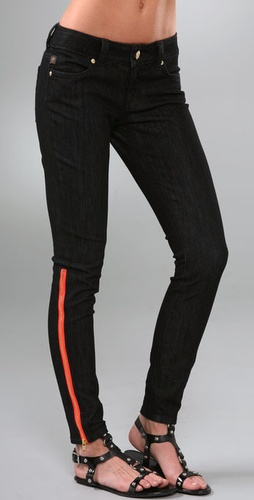 Serfontaine Fox Peg Leg Jeans with Zippers