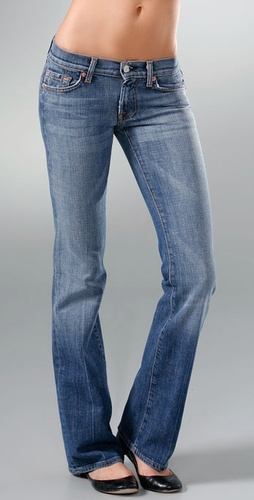 7 For All Mankind Stretch Boot Cut Jeans