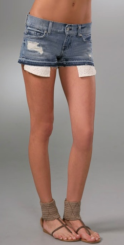 7 For All Mankind Boyfriend Denim Shorts