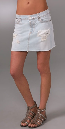 7 For All Mankind Josefina Miniskirt With