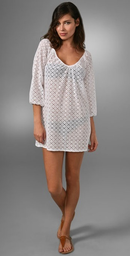 Shoshanna Peasant Tunic Cover-Up