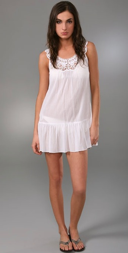 Shoshanna Lace Yoke Cover Up