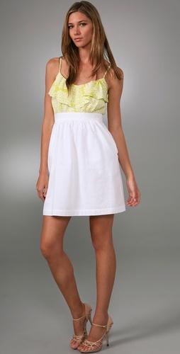 Shoshanna Combo Ruffle Dress