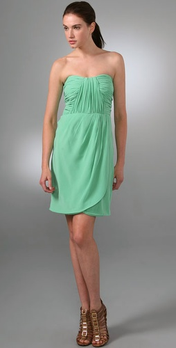 Shoshanna Draped Strapless Dress