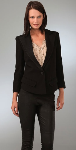 Smythe Sharp Shoulder Tuxedo Jacket