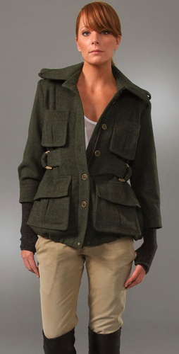 Smythe Surplus Jacket With Fingerless Glo